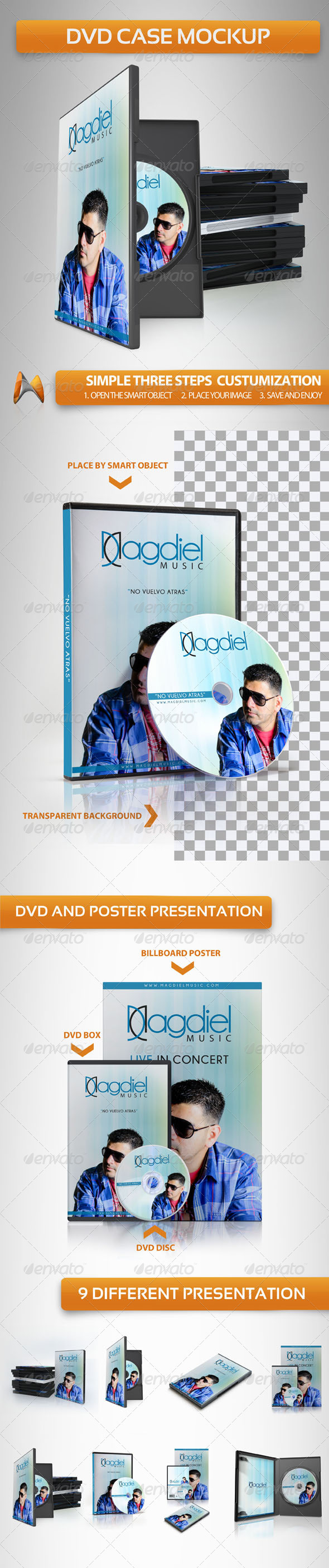 DVD Case Mockup - Discs Packaging