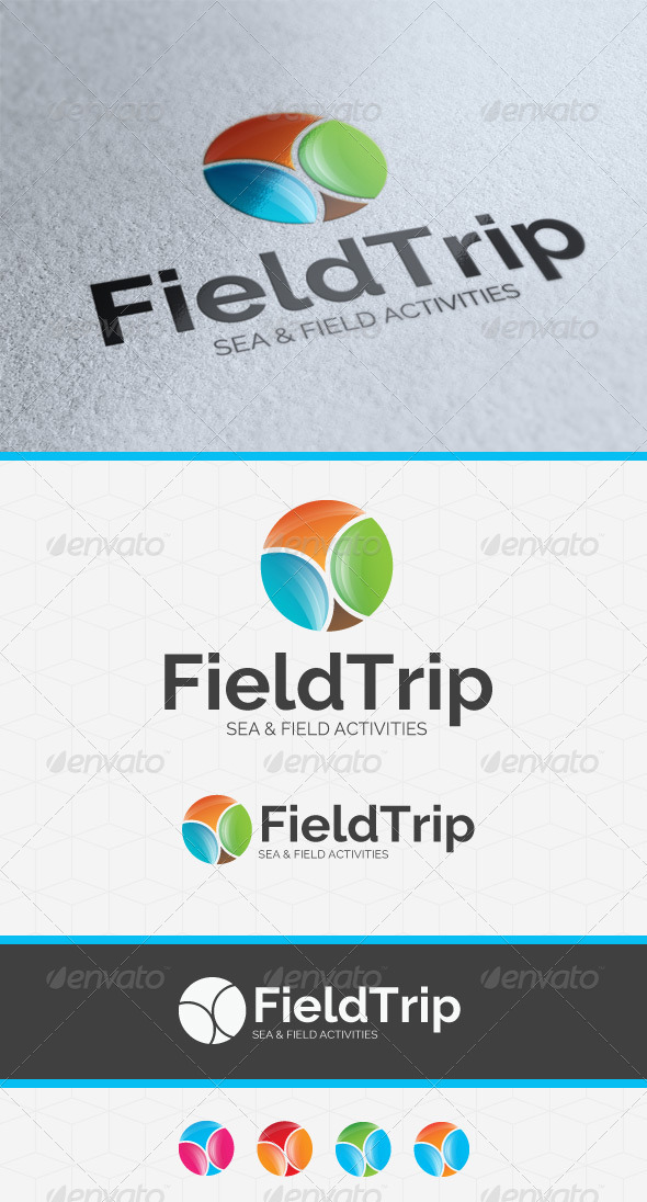 Field Trip Logo Template - Vector Abstract
