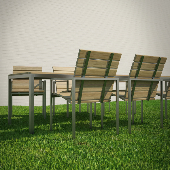 garden table and chairs 3d model 3docean item for sale - Garden Furniture 3d Model