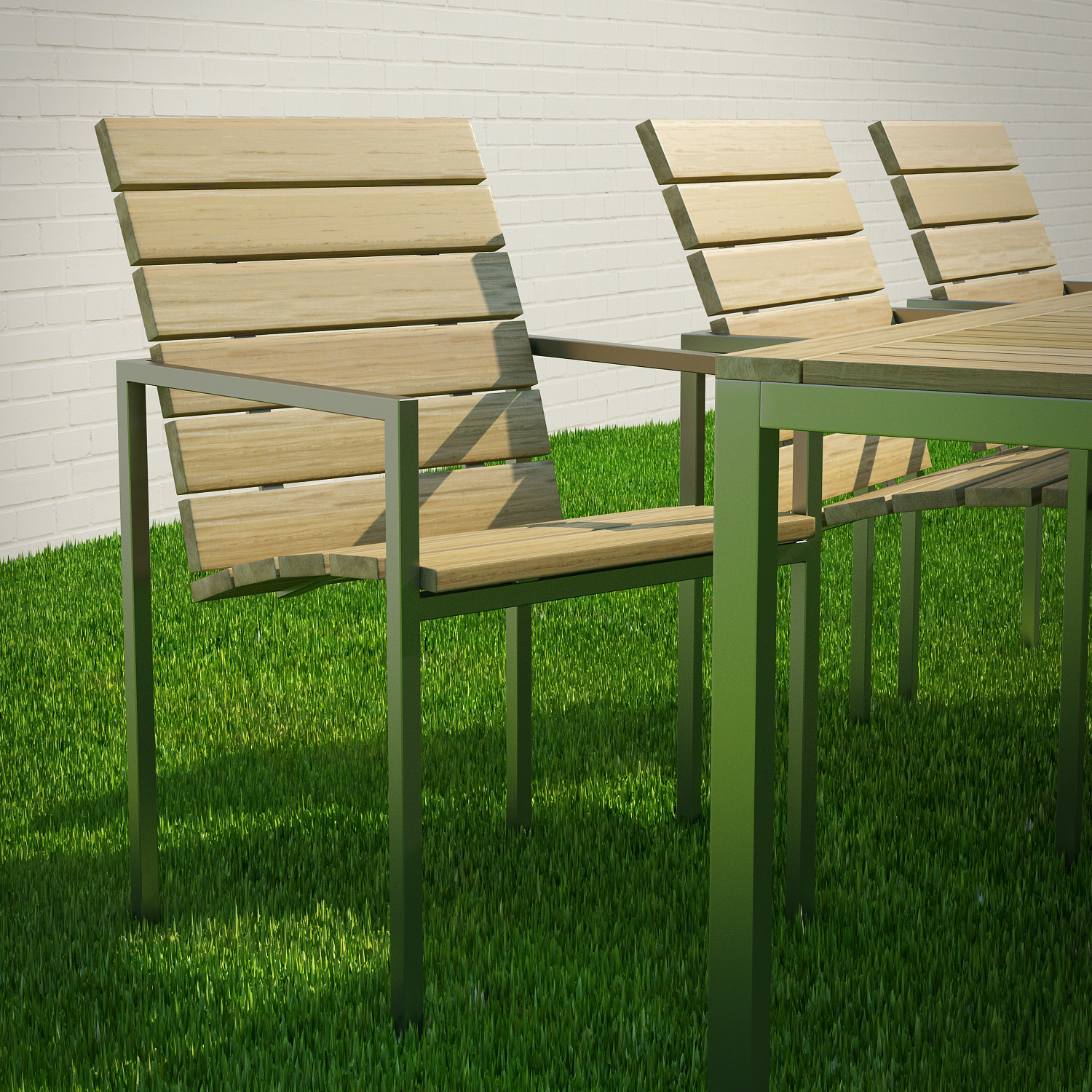 Garden Table And Chairs 3D Model