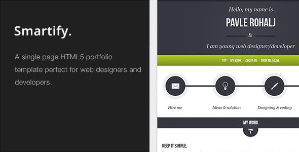 Smartify – Single Page HTML5 Portfolio Template