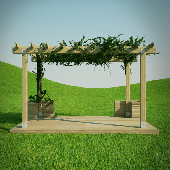 Pergola 3D Model - 3DOcean Item for Sale