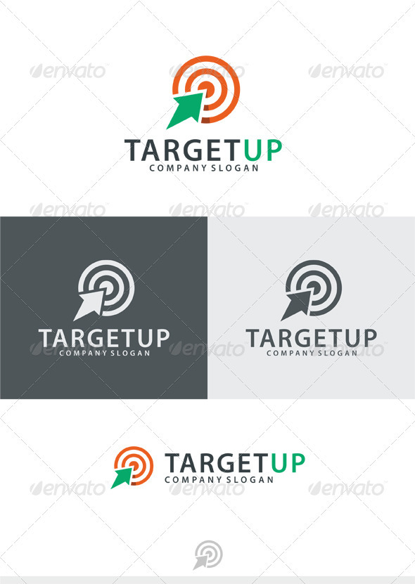 Target Up Logo - Vector Abstract