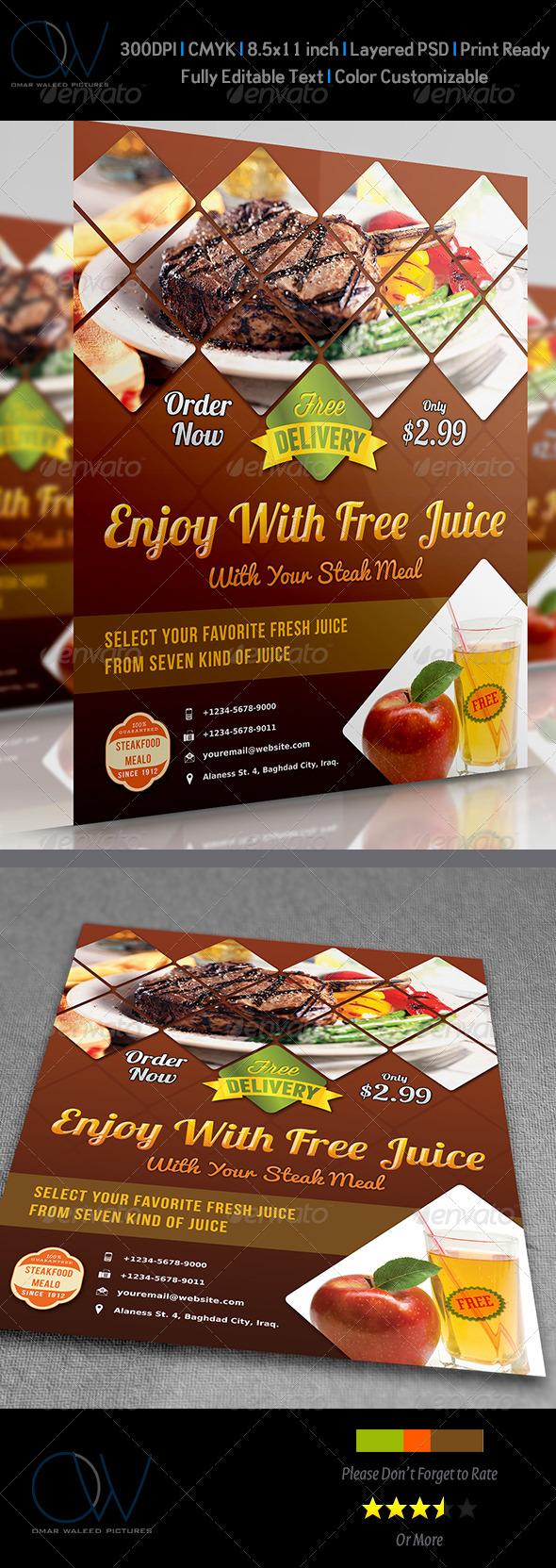 Steak Restaurant Flyer - Restaurant Flyers