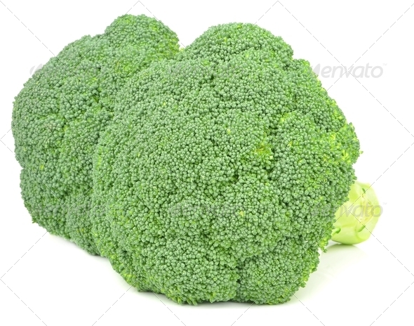 Fresh Pieces of Broccoli - Stock Photo - Images
