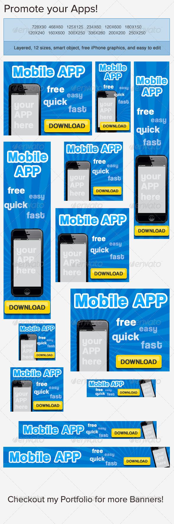 Mobile App Banner Ad - Banners & Ads Web Elements