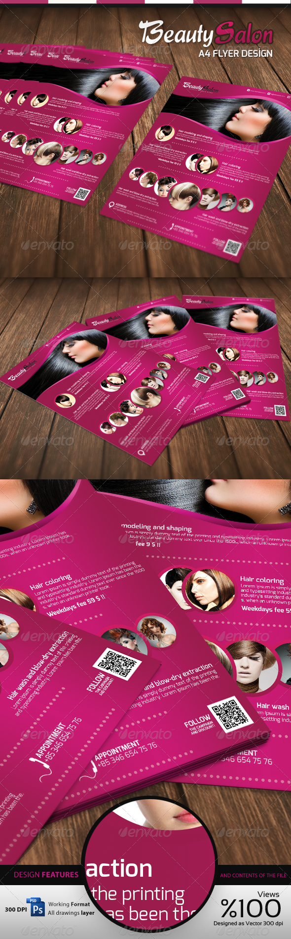 Beauty Salon - A4 Flyer - Commerce Flyers