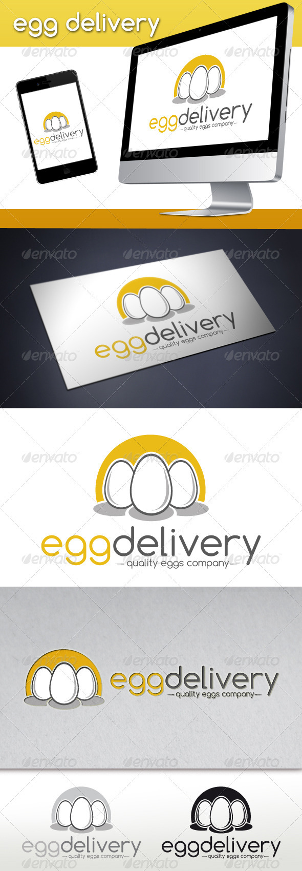 Egg Delivery Logo Template - Food Logo Templates