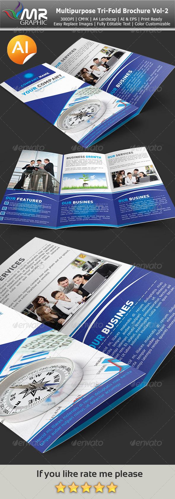 Multipurpose Tri-Fold Brochure Vol-2 - Corporate Brochures