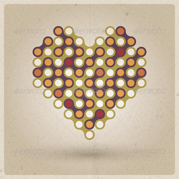 Retro Heart - Valentines Seasons/Holidays