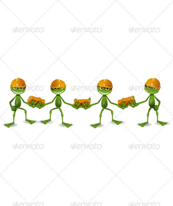 frog builders - Animals Characters
