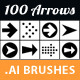 100 Arrow Set. Volume 01. Brush Library - GraphicRiver Item for Sale