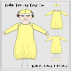 Baby Bunting Bag Set With Hat Panty And Binky - GraphicRiver Item for Sale