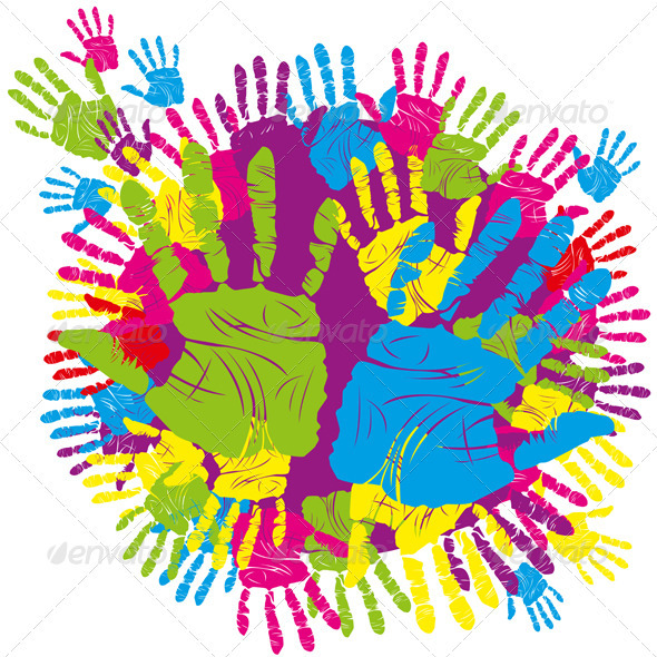 color hand print - Conceptual Vectors