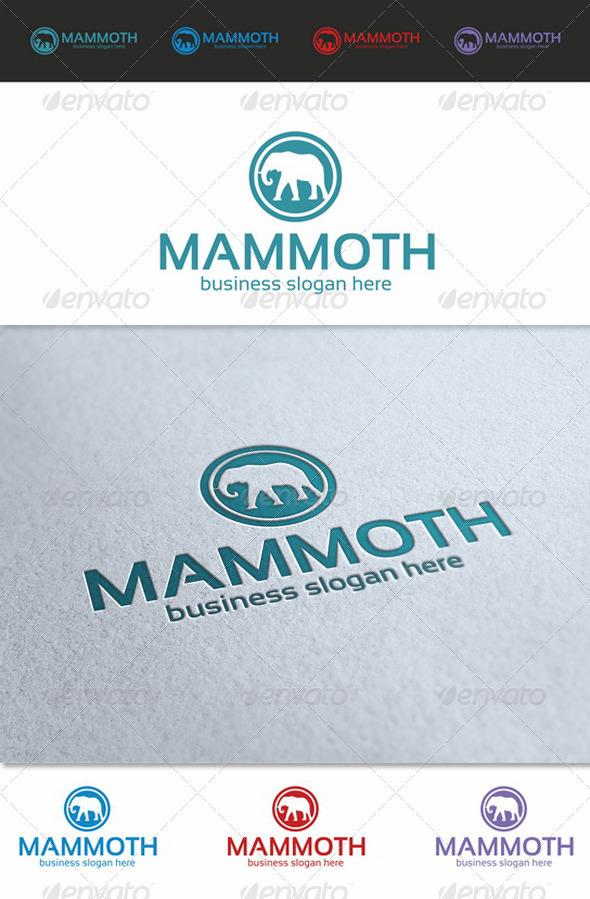 Mammoth Logo Template - Animals Logo Templates