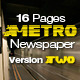 16 Pages Metro Newspaper Version Two - GraphicRiver Item for Sale