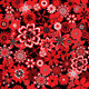 Seamless Pattern with Red and Black Flowers - GraphicRiver Item for Sale