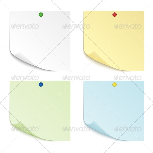 Colored Sheets of Paper - Miscellaneous Vectors