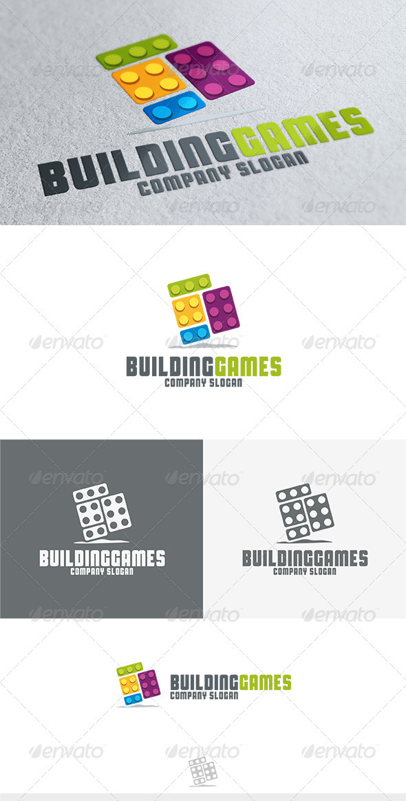 Building Games Logo - Objects Logo Templates