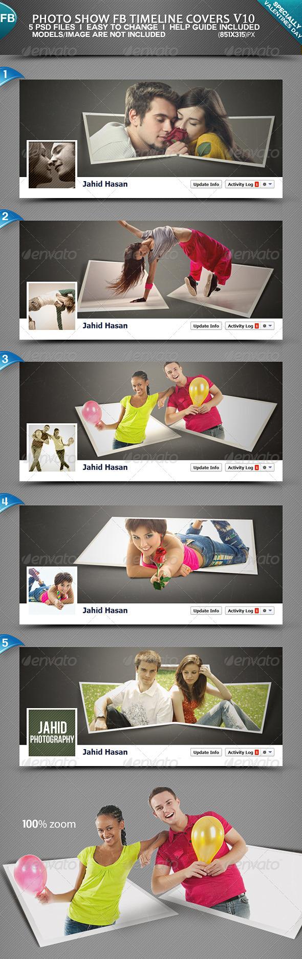 Photo Display FB Timeline Covers V10 - Facebook Timeline Covers Social Media