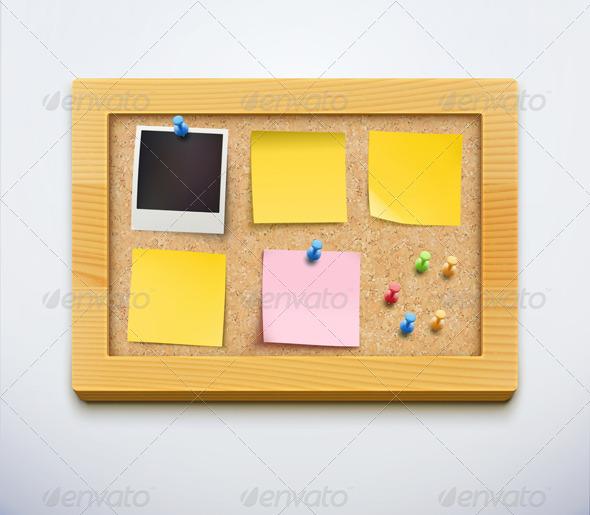 cork bulletin board - Objects Vectors