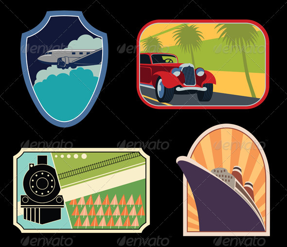 Luggage Labels - Travel Conceptual
