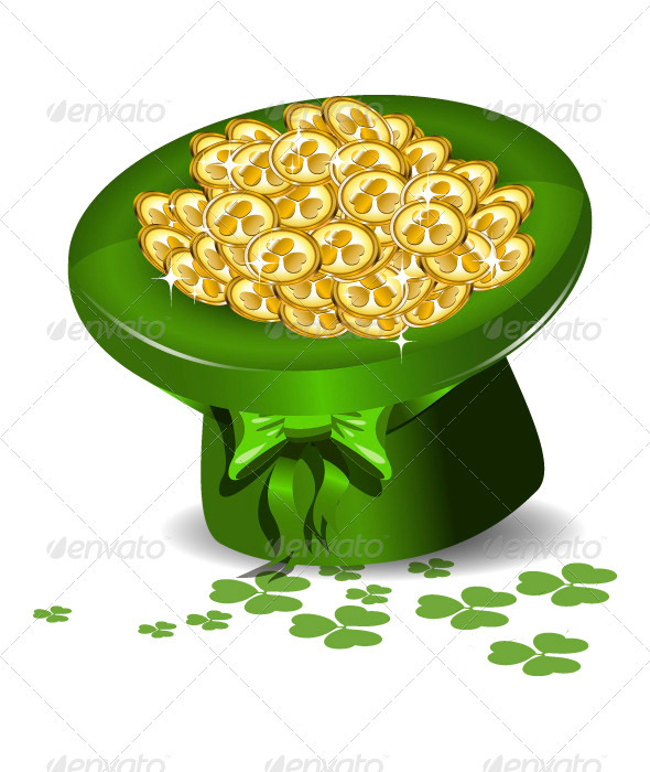 Green Hat with Money - Religion Conceptual