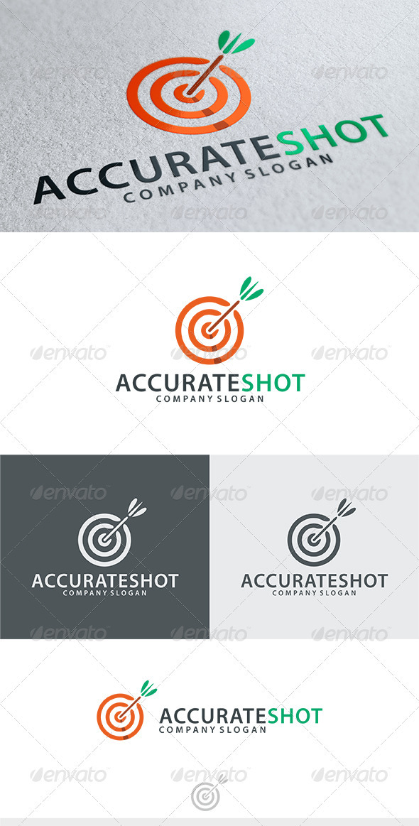 Accurate Shot Logo - Objects Logo Templates