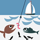Man Fishing; Angler sitting in a Dinghy - GraphicRiver Item for Sale