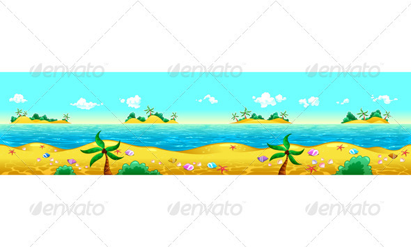 Seashore and Ocean.  - Landscapes Nature