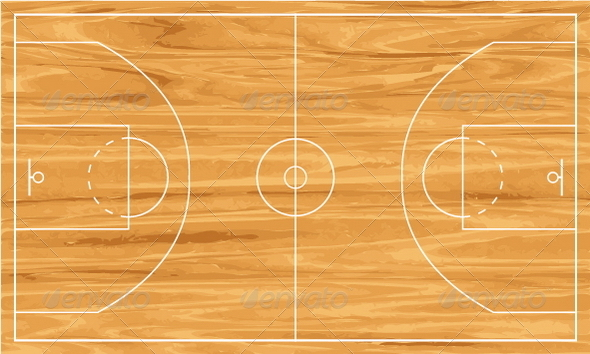wooden basketball court - Sports/Activity Conceptual