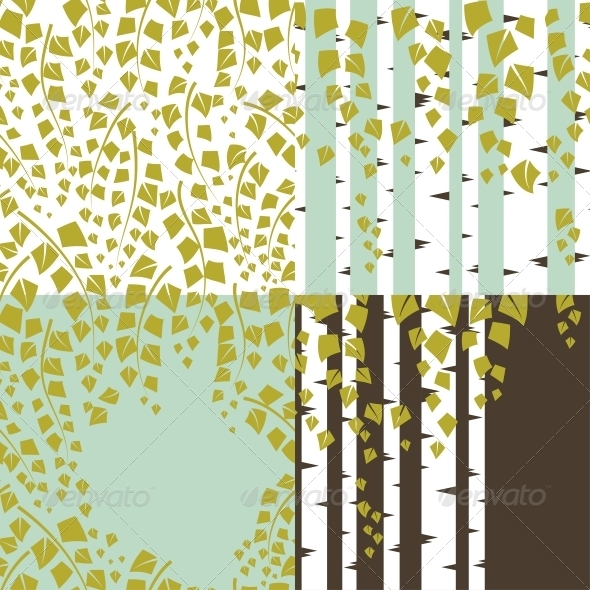 Patterns and Backgrounds of Green Trees. - Flowers & Plants Nature