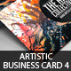 Artistic Business Card#4 PSD Template - GraphicRiver Item for Sale