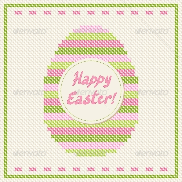 Happy Easter Greeting Card. - Valentines Seasons/Holidays