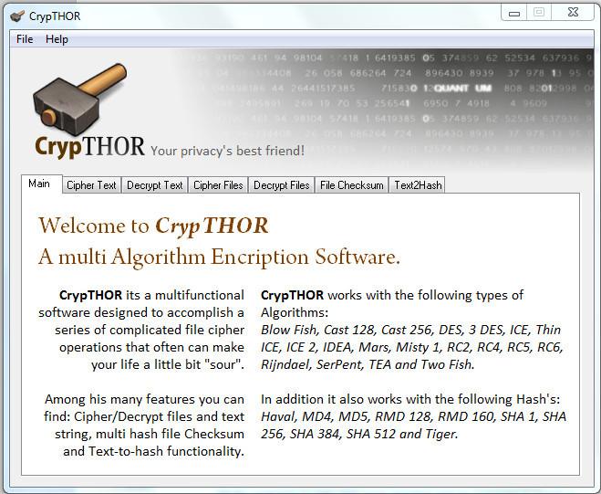 CrypTHOR - Advanced Encryption Software