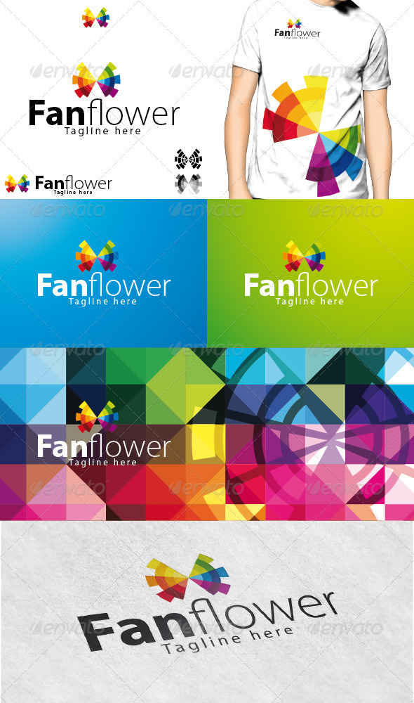 Fanflower Logo - Vector Abstract