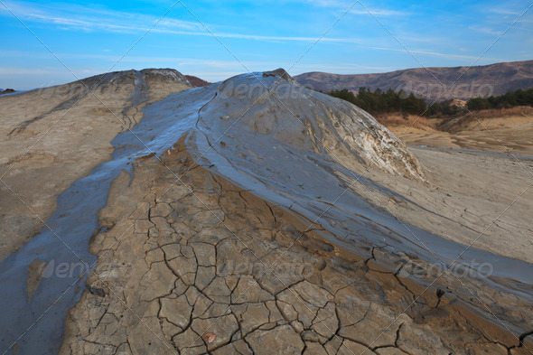 mud volcanoes In Buzau, Romania - Stock Photo - Images