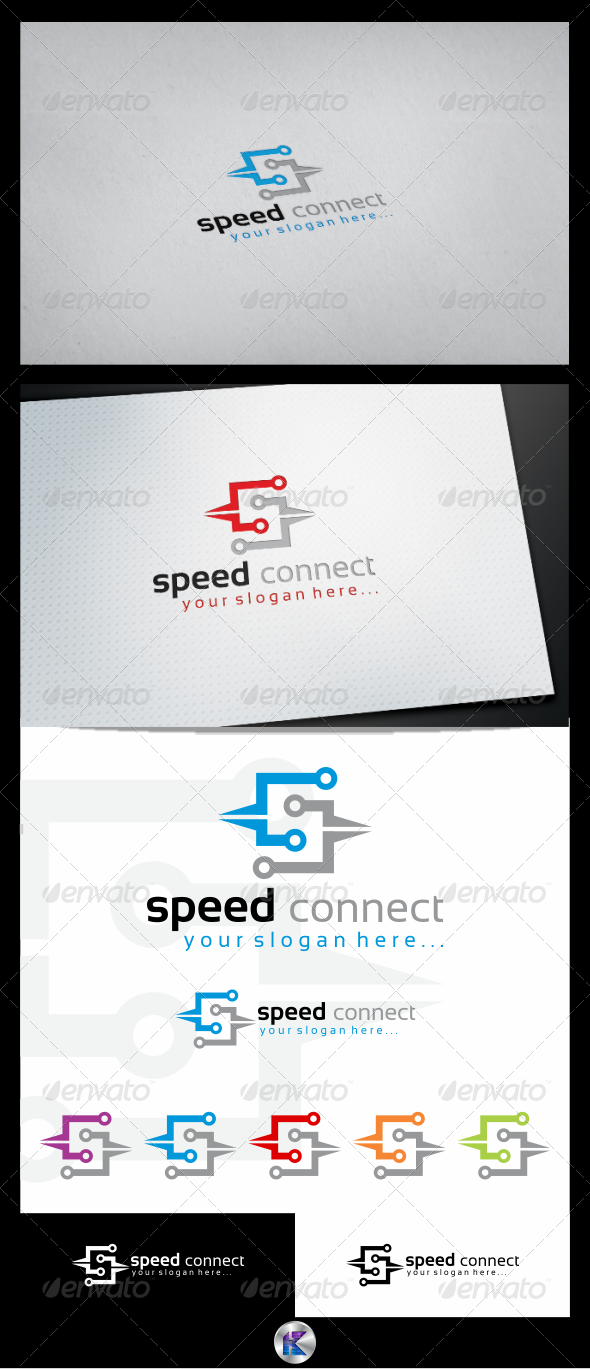Speed Connections Logo Template - Letters Logo Templates