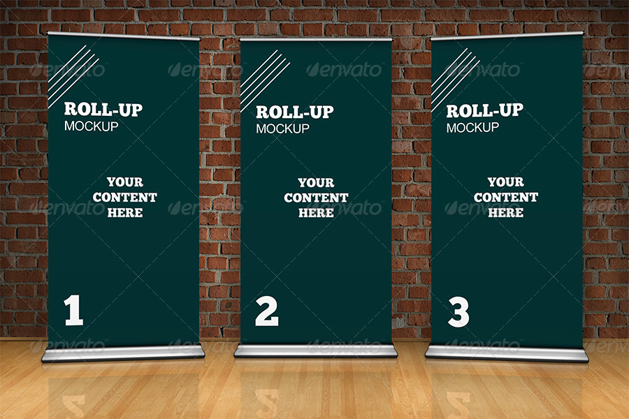 Studio Roll Up Mockup 100x200 Cm By Ejanas Graphicriver