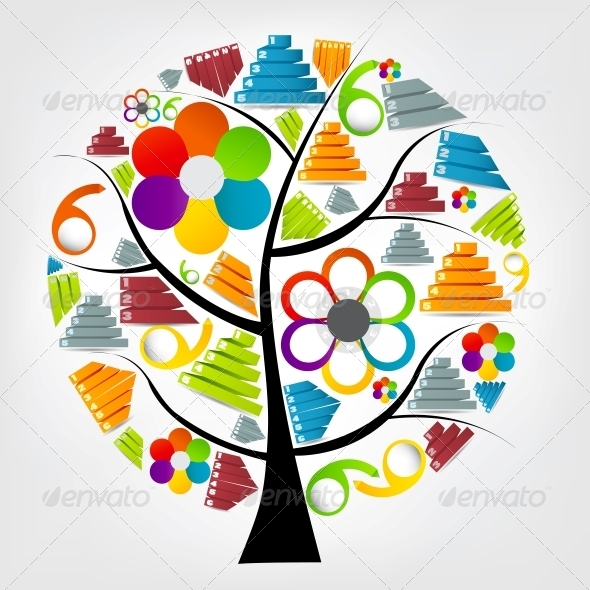 Tree of Business Chart Vector - Web Technology
