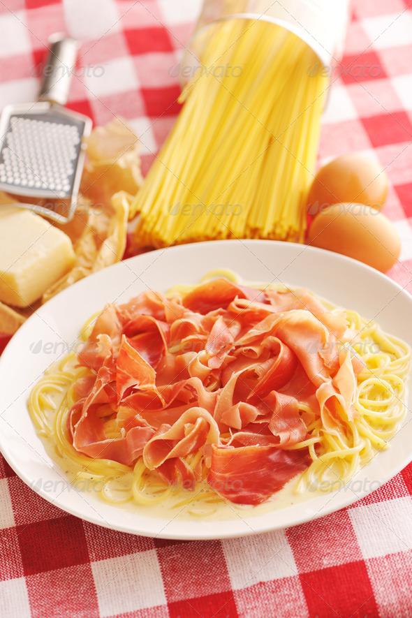 Pasta carbonara - Stock Photo - Images
