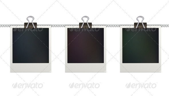 Retro Polaroid Photo Frames - Decorative Vectors