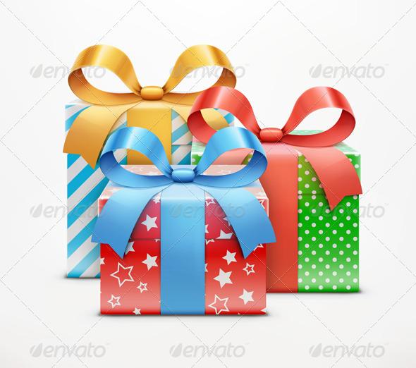 Gift Boxes - Decorative Symbols Decorative