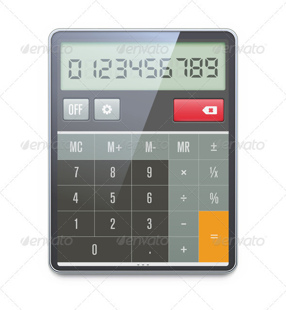 Electronic Calculator  - Objects Vectors