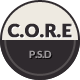 CORE - Multipurpose Single Page PSD Template Nulled