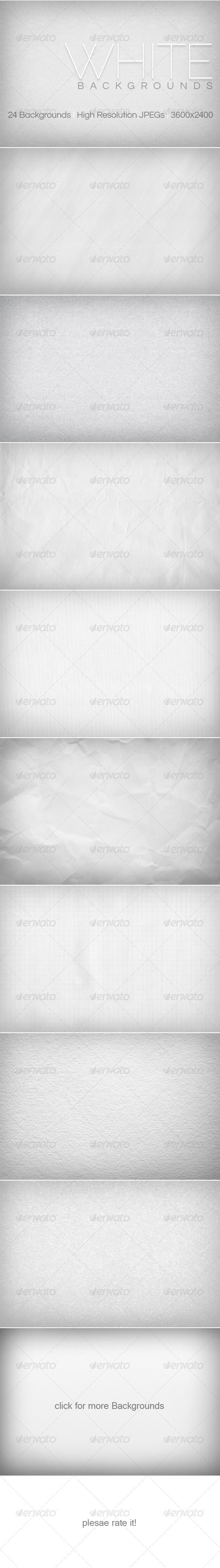 White Backgrounds Collection 1 - Backgrounds Graphics