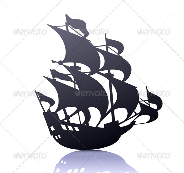 Sailing Ship - Decorative Vectors