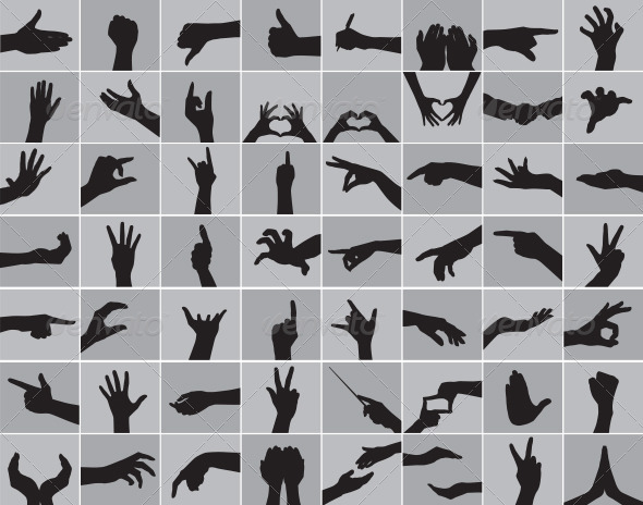 Hands Silhouettes - Miscellaneous Characters