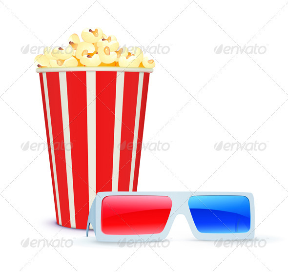 Cinema Background  - Objects Vectors