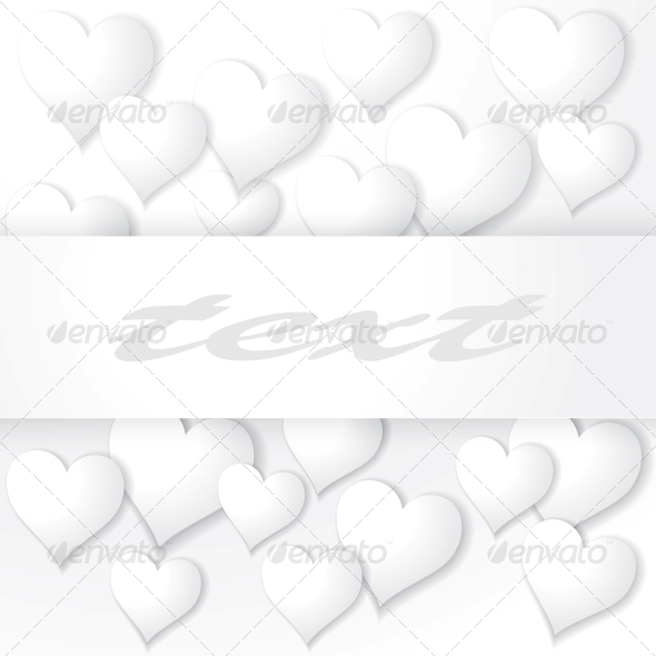 Background with Hearts - Patterns Decorative